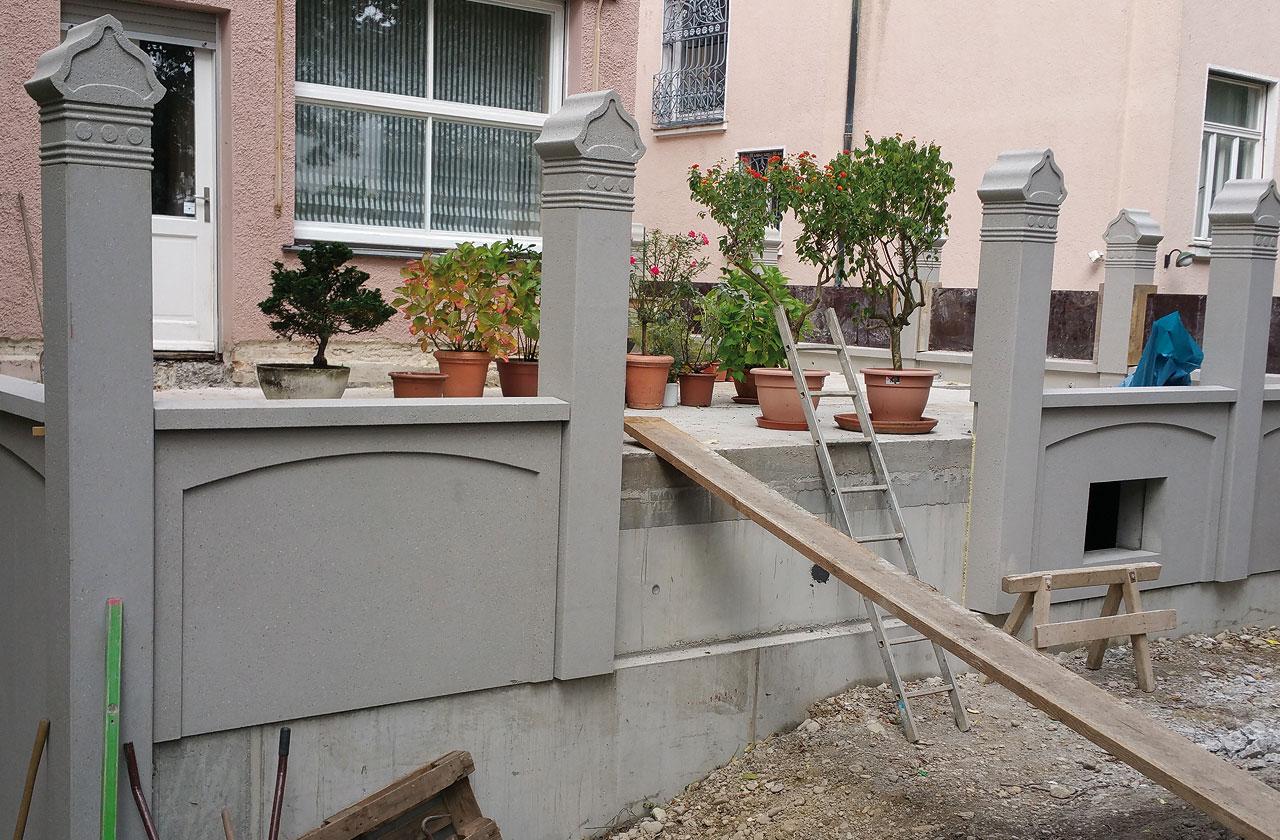 Klaus bau und immobilien in m nchen und augsburg anbau umbau sanierung und renovierung als - Gartenmauer fertigteile ...